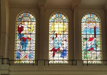 1964 South Aisle: Assumption, Pentecost, Death of Christ