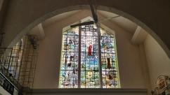 1964 North Transept: St. John of the Cross. Our Lady of Carmel, and St. Teresa of Avila