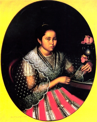 1876 Portrait of Inocencia Francia by Antonio Malantic