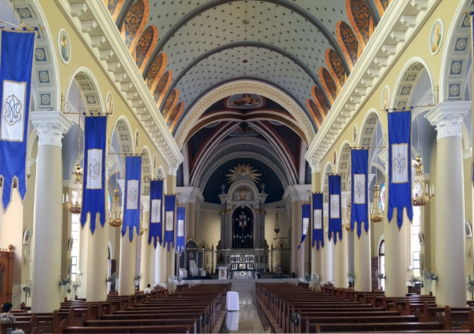 04 1949-50 Immaculate Conception Cathedral, Aisle & Altar