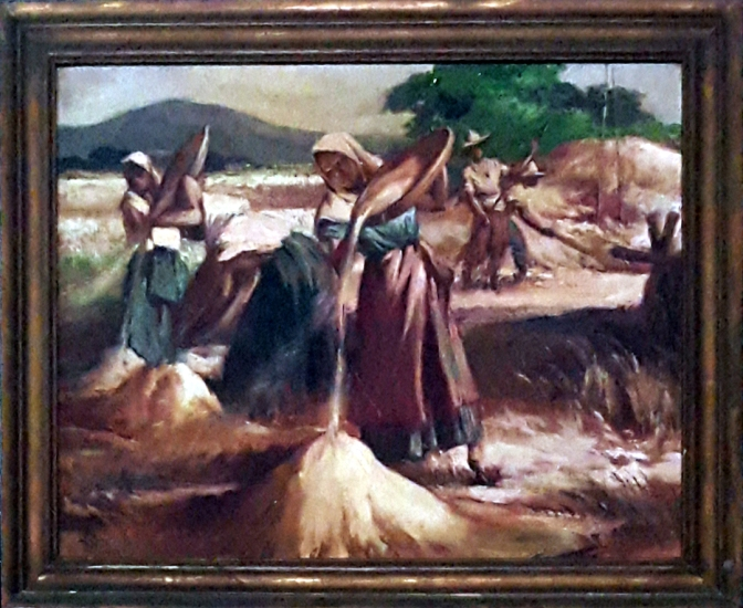 06 1941 Winnowing Rice by Pablo Amorsolo
