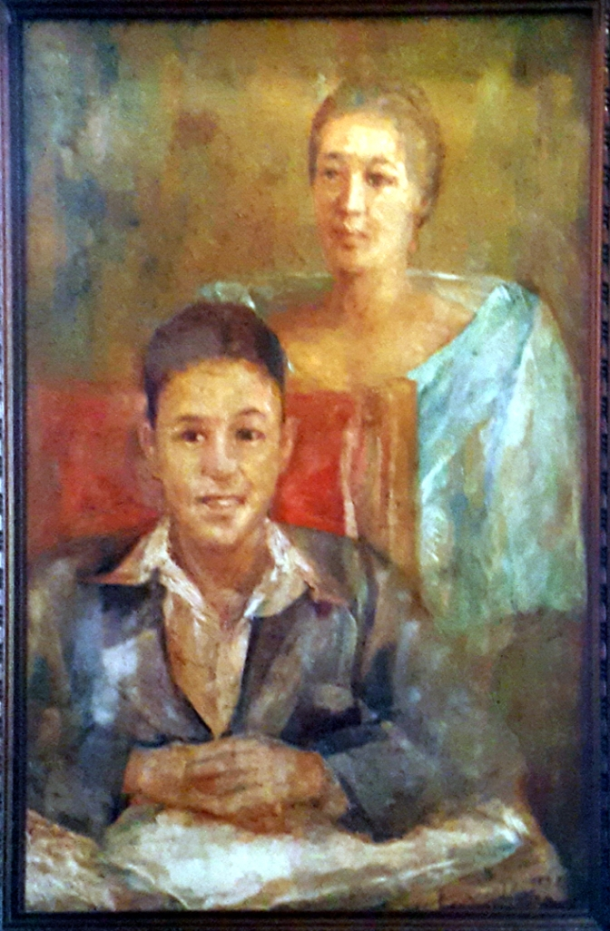 08 1934 Francisca Tirona-Benitez and Son Alfredo by Diosdado Lorenzo