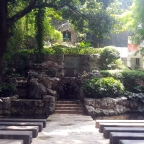 Quezon City, Eulogio Rodríguez, Sr. Avenue: Garden of the Divine Word Grotto at the Christ the King Mission Seminary Compound