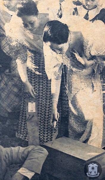 1936 First Lady Aurora Quezon and Mrs. Sofia R. De Veyra lays cornerstone of the Teachers' Santol Sanatorium