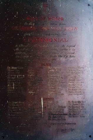 1945 World War II Memorial Plaque