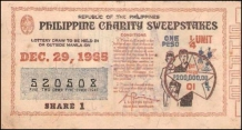 1965 Philippine Tuberculosis Society PCSO ticket