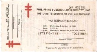 1981 Philippine Tuberculosis Society, raffle