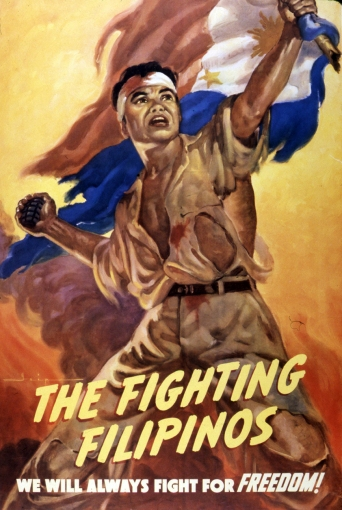 1943 The Fighting Filipinos poster by Manuel Rey Isip (1904–1987)