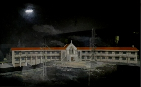 1953 Casiciaco Recoletos Seminary, Baguio, perspective illustration by Arch. Mañalac