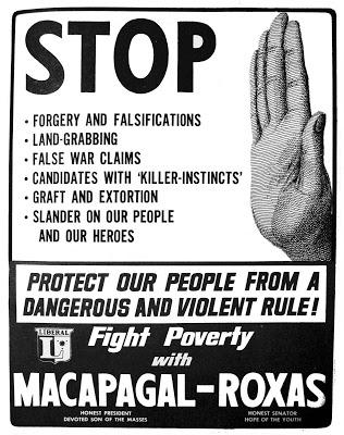 1965 Macapagal-Roxas Poster