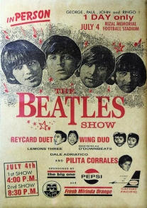 1966 The Beatles in Manila Poster