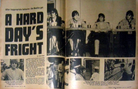 1966 The Beatles in Manila Magazine Article