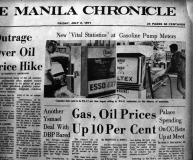 1971 The Philippines is affected by the international oil crisis