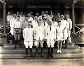 1933-1935 Frank Murphy with group at the Fort Wm. McKinley Club, Philippines