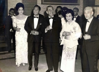 1965 Ferdinand and Imelda Marcos with Japanese Prime Minister Eisaku Satō and his wife