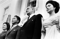 1966 Ferdinand and Imelda Marcos with US President Lyndon B. Johnson