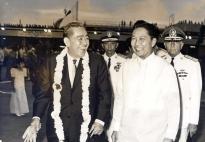 1969 President Ferdinand E. Marcos with Japanese Prime Minister Eisaku Satō