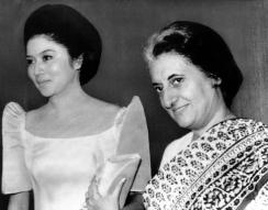 1971 Imelda Marcos with Indian Prime Minister Indira Gandhi