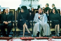 1975 Imelda Marcos with General Augusto Pinochet, during the Funeral of Gen. Francisco Franco Bahamonde
