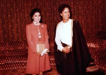 1976 Imelda Marcos with Libyan President Muammar al-Qaddafi
