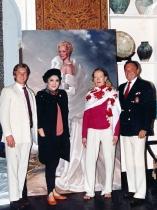 Mark Deren, Imelda Marcos, Doris Duke, and Ralph Wolfe Cowan