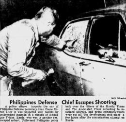 1972 Juan Ponce Enrile Assassination Attempt