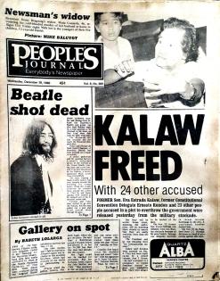 1980 December 12, People's Journal, Senator Eva Estrada Kalaw is released from Jail