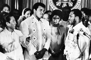 1975 Thrilla in Manila, Ali and Frazier, in Malacanang