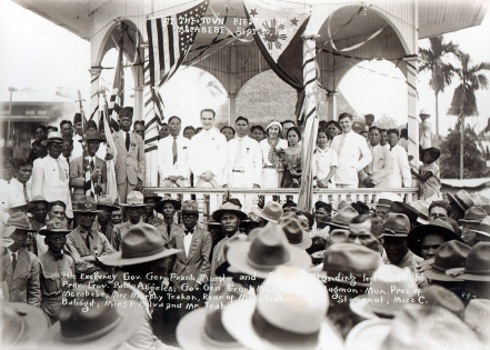 1933 Gov. Gen. Frank Murphy and party at the town Fiesta of Macabebe