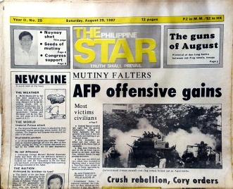 1987 August 29, The Philippine Star