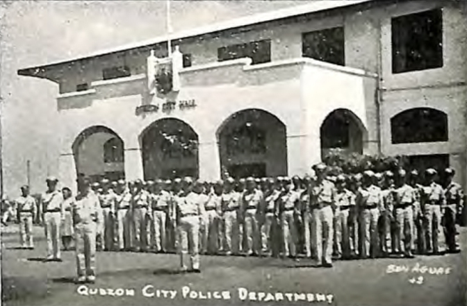 1948 The QC Police Department in front of the Quezon City Hall