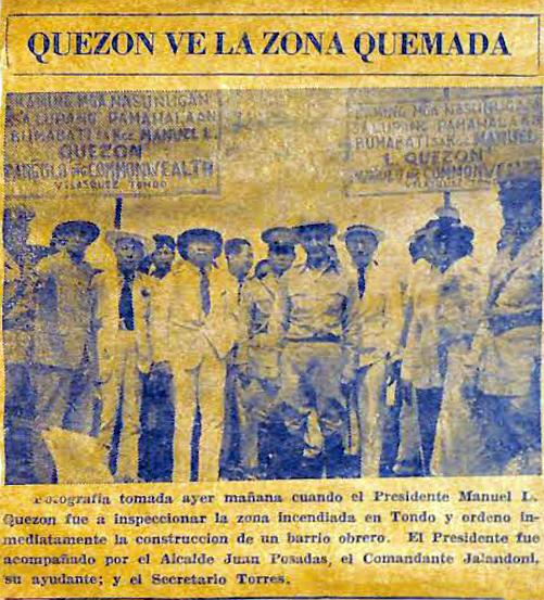 01 1937 President Quezon inspecting the construction of Barrio Obrero
