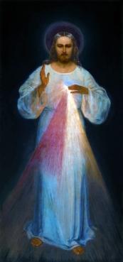 1934 Divine Mercy by Eugene Kazimierowski, Divine Mercy Sanctuary in Vilnius