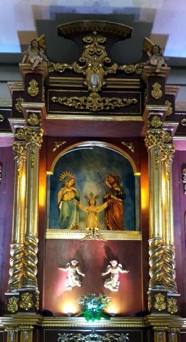 1980 Holy Family Parish Altar, Ratablo Sagrada Familia
