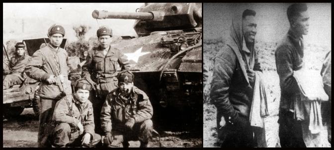 06 10th BCT tank crew and their M24 'Chaffee' light tank mounting a 75 mm gun, Capt Conrado Yap and Lt Jose Artiaga