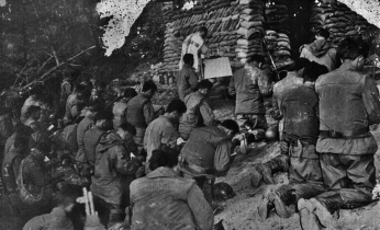 1950 The 10th BCT attend mass at the county of Chorwon in North Korea