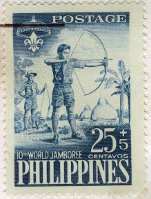1959 10th World Jamboree Fund Campaign Stamp