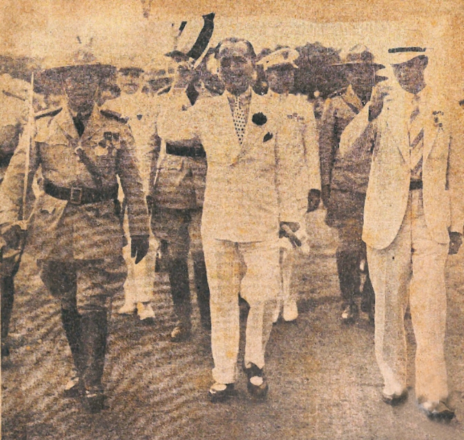 02 1937 President Quezon during a Parae and Review of the Philippine Constabulary