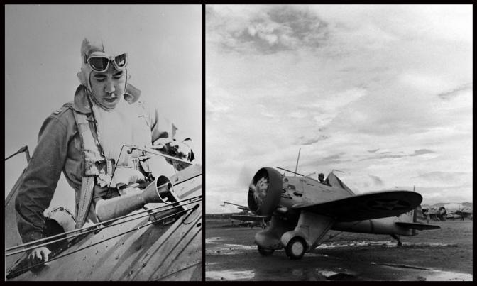 02 1941 Captain Jesús Antonio Villamor (1914-1971) & Boeing P-26A Pea Shooter