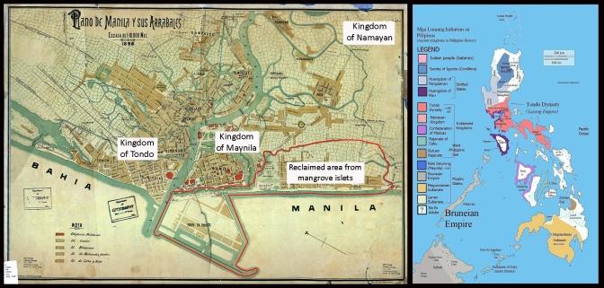 03A 1898 Plano de Manila y sus Arrabeles and the Kingdom of Tondo