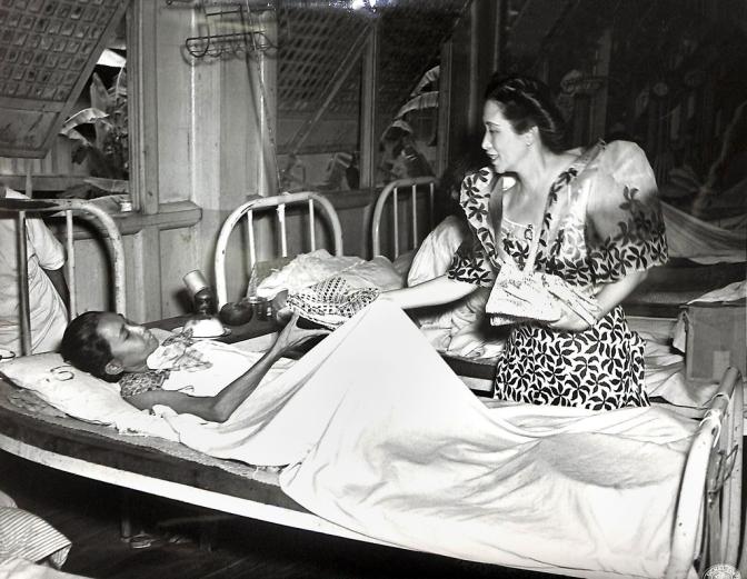 05 1945 Mrs. Esperanza Escolar Limjap Osmeña (1894-1978), San Lazarro Hospital, Manila, Philippines, 4 June