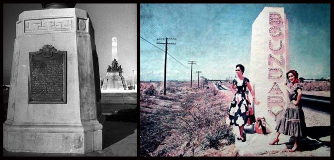 06 1946 Independence Flagpole Base as Kilometer Zero & 1950s highway 54 (EDSA)