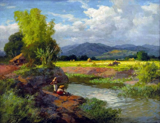 06 1948 Marikina Valley by Fernando Cueto Amorsolo (1892-1972)