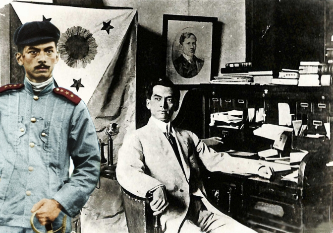 06 Major Manuel Quezon and First Philippine Republic Flag
