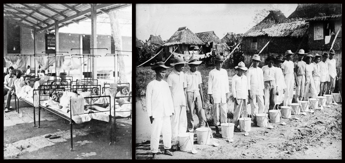 08 1902-1905 US Troops at the 1st Reserve Hospital in Manila & Cholera Sanitation Squad