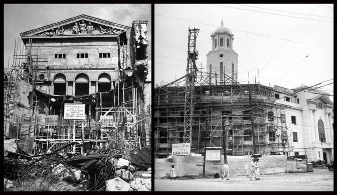 09 1946-1950s Reconstruction of the Manila, Legislative Building (1946) Manila City Hall (1949)
