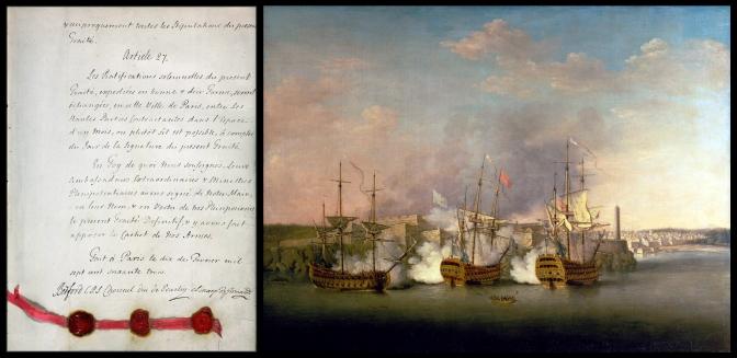 11 1763 Treaty of Paris & 1770s Bombardment of the Morro Castle, Havana, 1 July 1762, by Richard Paton (1717-1791)