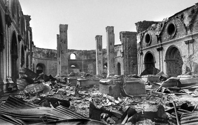 13 1945 Ruins of the Santo Domingo Church, Intramuros, Manila