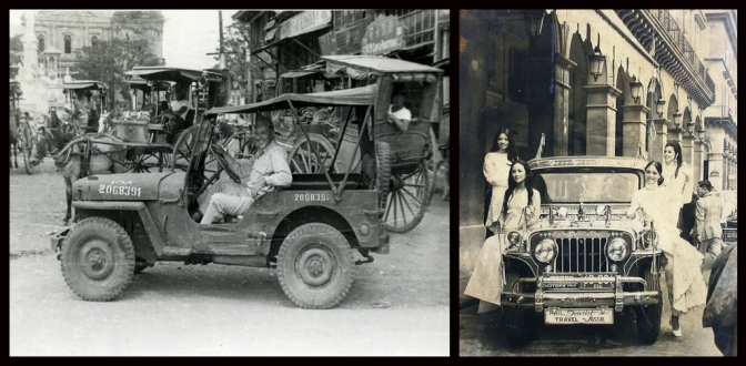 16 1945 A Jeep in Manila & 1979 Jeepney promotional Ad by Philippine Tourist and Travel Association