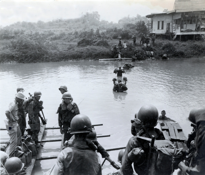 16 1945 The 37th Infantry Division cross the Tuhihan River, 4th February